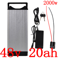 48V 1000W 1500W 2000W Electric Bike Battery 48V 20AH Ebike Scooter Battery pack 48V 20AH Lithium ion Battery With 2A Charger