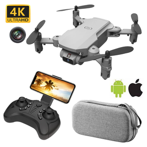 RC Drone UAV Quadrocopter with Camera 4K HD WIFI FPV One-Key Return Remote Control Dron Helicopter Foldable Global Popular Toy