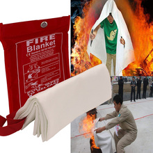 1M x 1M Safety Fire Blanket Fiberglass Emergency Survival Fire Shelter Extinguisher Flame Retardant Protection For Kitchen