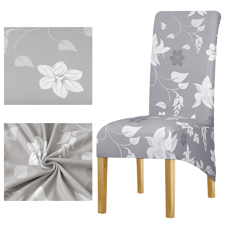 4 5 6 Pieces long back Chair Cover printed Wedding Chair Covers Dining fundas para sillas