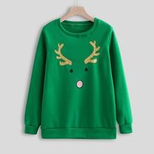 цена на Jacket Women's Autumn New Print Turtleneck Long Sleeve Crew Neck Sweatshirt Jacket for Christmas