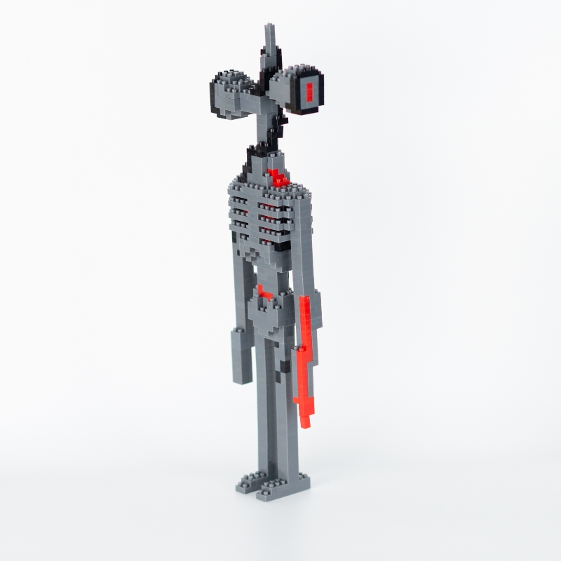 Kawaii Siren Head Blocks Anime Siren Head Action Figure Collectible Model Toys Educational Blocks Gifts For Kids
