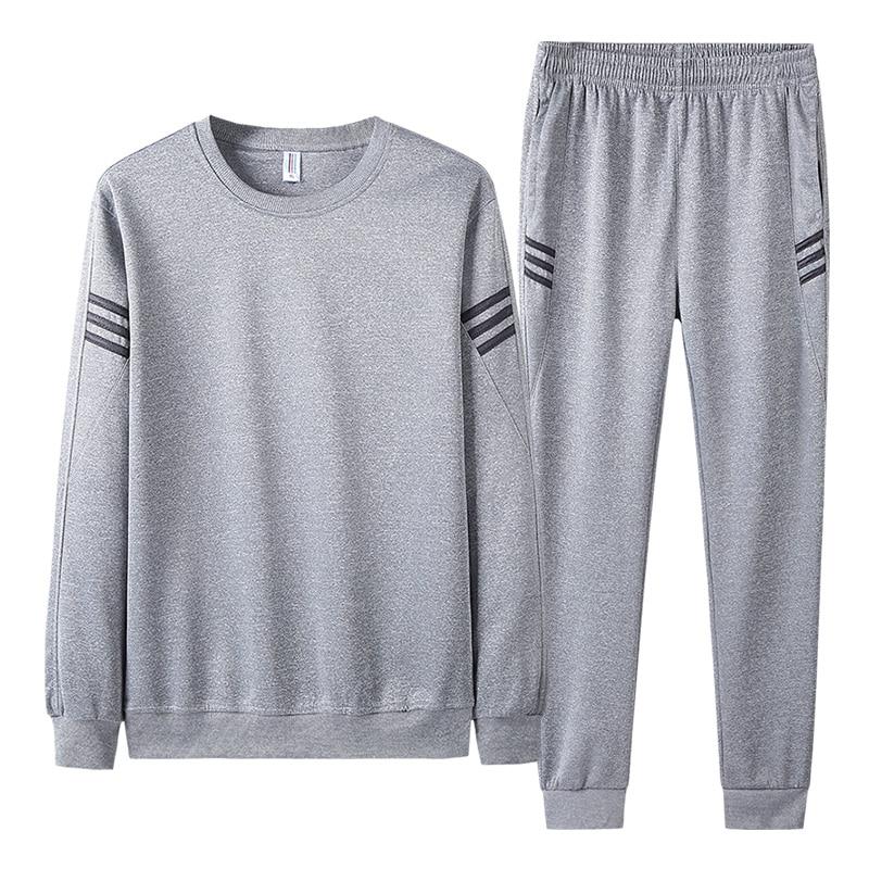 AIOPESON 2019 Autumn Tracksuit Men Fashion Casual Sportswear Slim Fit O-Neck Hoodies + Jogger Pants Men Sweat Suits 22