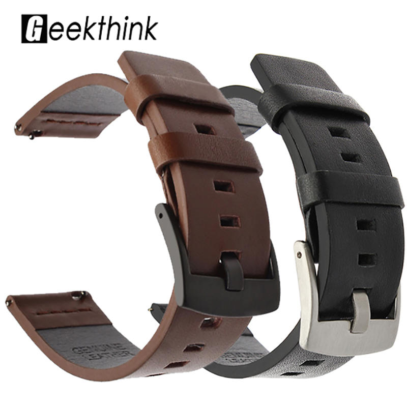 Watchband For Samsung Galaxy Watch 46mm 42mm Active 2 40 44mm Watch Gear S3 Watch Band Strap 20 22 24mm Genuine Leather Bracelet