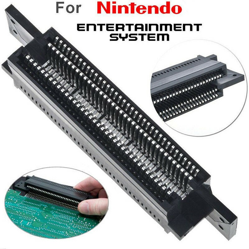 Hot High Quality Replacement 72 Pin Connector Adapter Repair Part For Nintendo NES Entertainment Console Game Accessories