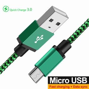 Микро USB кабель для быстрой зарядки 3,0 4,0 3A быстрое зарядное устройство для передачи данных кабель Microusb Зарядное устройство для samsung Xiaomi Redmi ...
