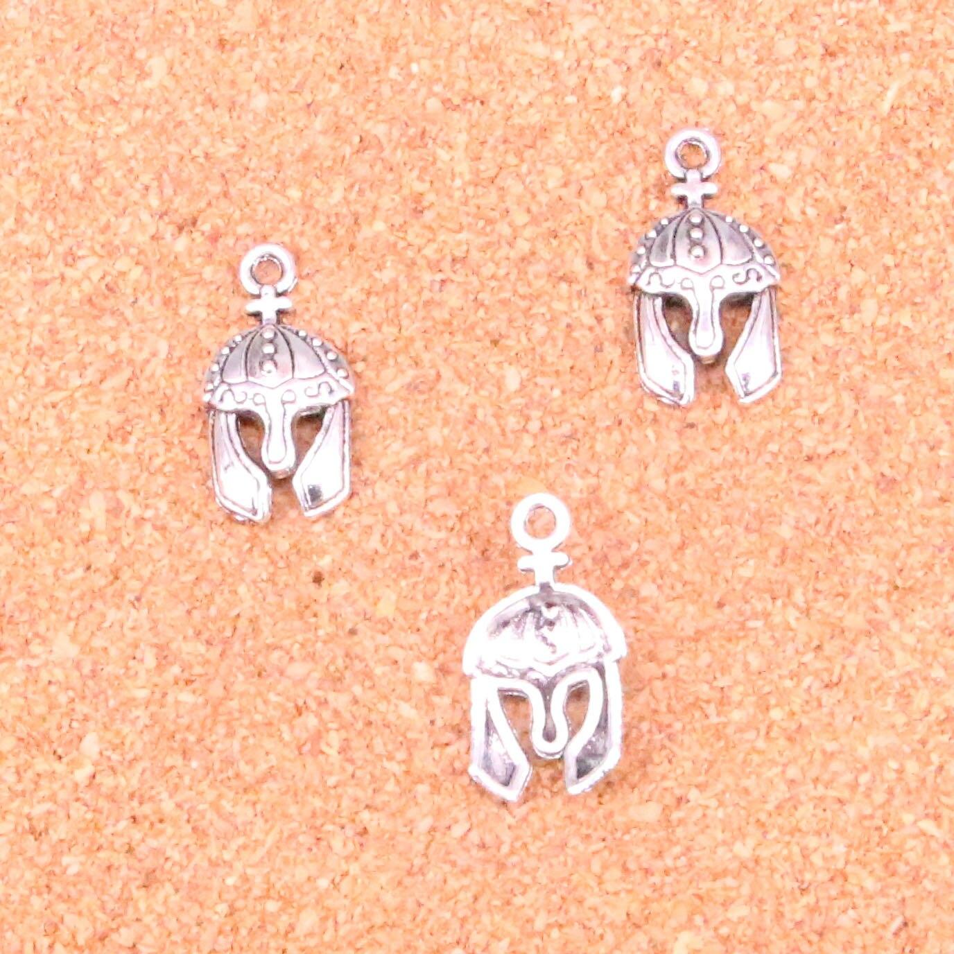Mua 96 pcs Charms soldiers helmet,Antique Making pendant fit,Vintage Tibetan Silver,jewelry DIY bracelet necklace 24*12mm