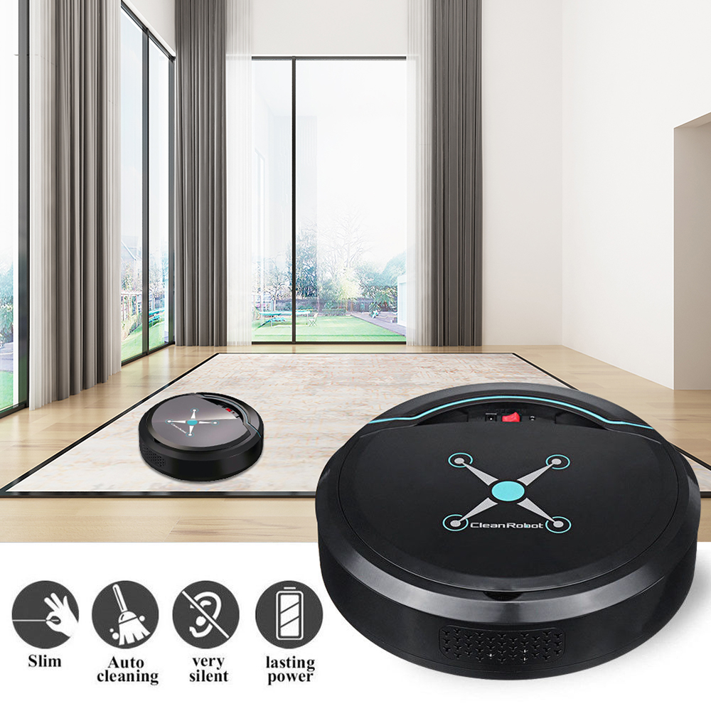 USB Rechargeable Smart Electric Sweeping Robot Automatic Cleaner Robot Vacuum Cleaner Smart Home Automatic Control