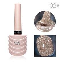 10ml Glitter Nail Gel Polish Nail Art Decoration Crystal Diamond Powder Gel Silver Nail Polish Soak Off UV Gel Polish TSLM2
