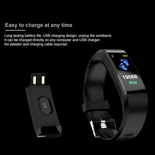 FXM New ID115 PLUS Color Screen Wristband Sport Watch Men Fitness Race Go Tracker Fashion Children