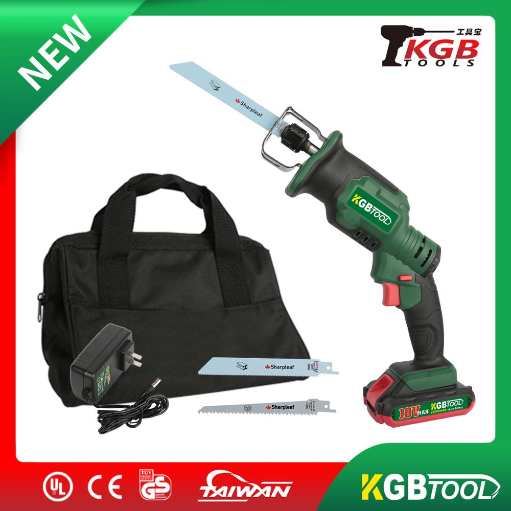 KGB 18V Cordless Reciprocating Saw With Saw Blades For Carpenter