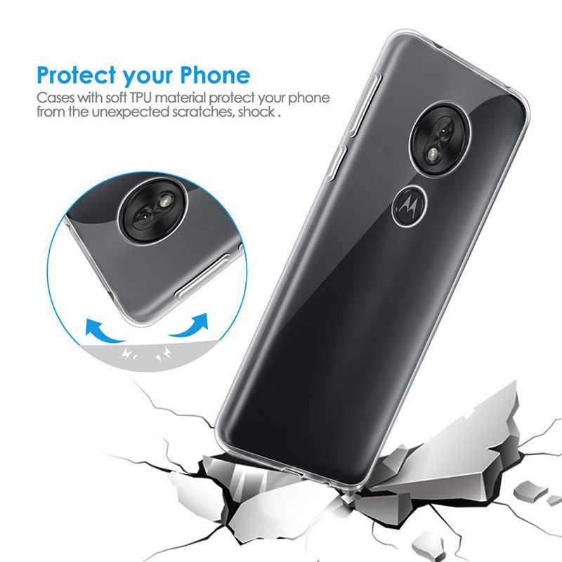Olhveitra Mềm TPU Trong Suốt Cho Motorola Moto G6 Plus G7 Điện G6 E5 G4 Z3 Z2 Z Play E4 g4 G5 G5S G6 G7 Plus Ốp Lưng