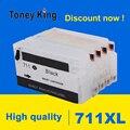 Toney King 711 711 XL многоразовый картридж для принтера HP Designjet T120 24 T120 610 T520 24 T520 36 T520 610 T520 914