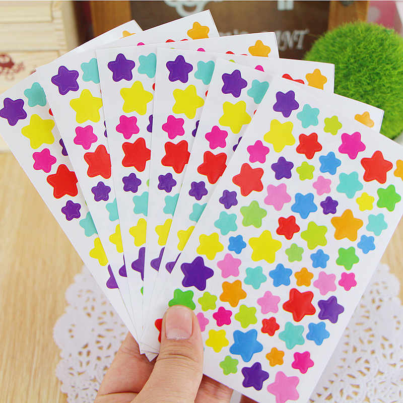 1 Sheet Smiling Star Toy Sticker Mixture Stickers Doodling Travel DIY Stickers On The Car Motorcycle Luggage Laptop Bike Scooter