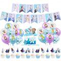 «Холодное сердце» 2 вечерние украшения Принцесса Аиша детский день рождения вечерние декоративный латексный шар баннеры торт Топпер Baby Shower...