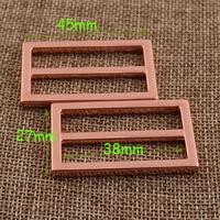 6 PCS 38mm Rose Gold Schieben Schnallen, 1 1/2 ZOLL Gurt Befestigungen Gürtel Schnalle Teller Tasche Gepäck Riemen Geldbörse Schnallen