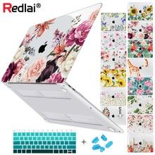 Цветочный мягкий на ощупь пластиковый жесткий чехол для MacBook Air Pro Retina 11 12 13 15 16 дюймов touch bar 2020 A2337 A2179 A2338 A2289