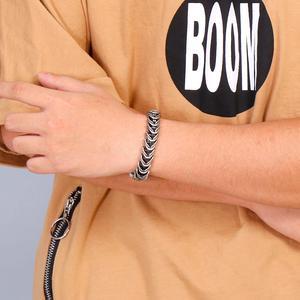Image 5 - Fongten Vintage Black Snake Link Chain Bracelet Men Stainless Steel Punk Biker Charms Metal Heavy Bracelets Fashion Jewelry