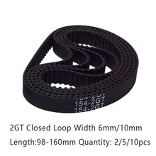 3D Printer Belt GT2 Loop Tertutup Karet 2GT Waktu 98/102/110/112/120/124 /140/150/158/160 Mm Panjang Lebar 6/10 Mm 2GT Timing Belt(China)