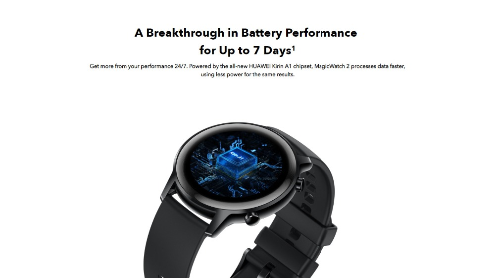 Huawei Honor MagicWatch 2 42mm Hebe Bluethooth Smart Watch 1.2AMOLED Always-on Display 14 Sports Modes 5ATM GPS Wireless Music 5