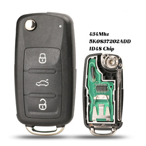 jingyuqin 5K0 837 202 AD Remote Key for VW/VOLKSWAGEN 5K0837202AD Beetle/Caddy/Eos/Golf/Jetta/Polo/Scirocco/Tiguan/Touran/UP