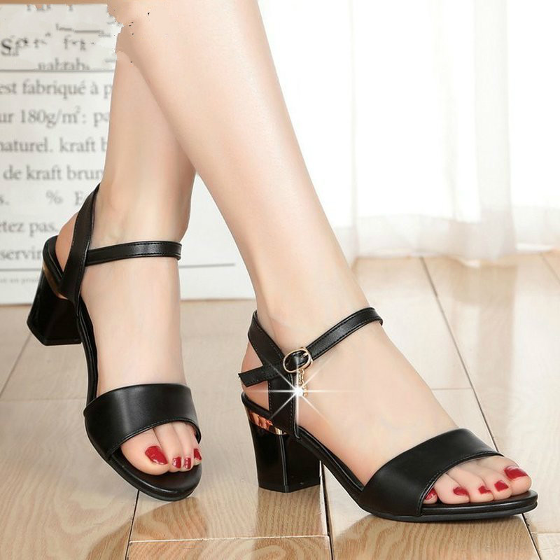 New Women Sandals Summer  Hot Female Fish Mouth Exposed Toe High-Heeled Sandals Ankle Strap Ladies Shoes