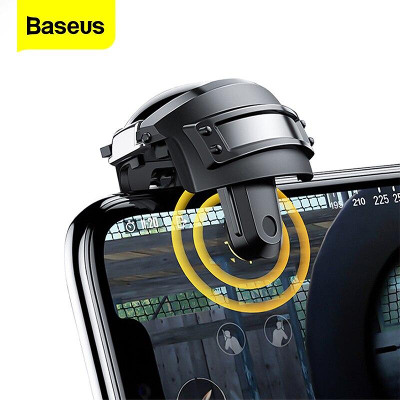 Baseus gamepad joystick para pubg jogo gatilho fogo botão l1 r1 jogo do telefone móvel shooter controlador joypad para iphone android