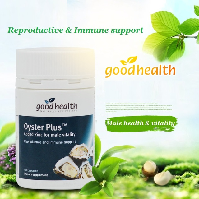 NewZealand GoodHealth Oyster Plus Marine Supplement 60Caps for Men Health Vitality Immune Support Reproductive Health Wellbeing 2