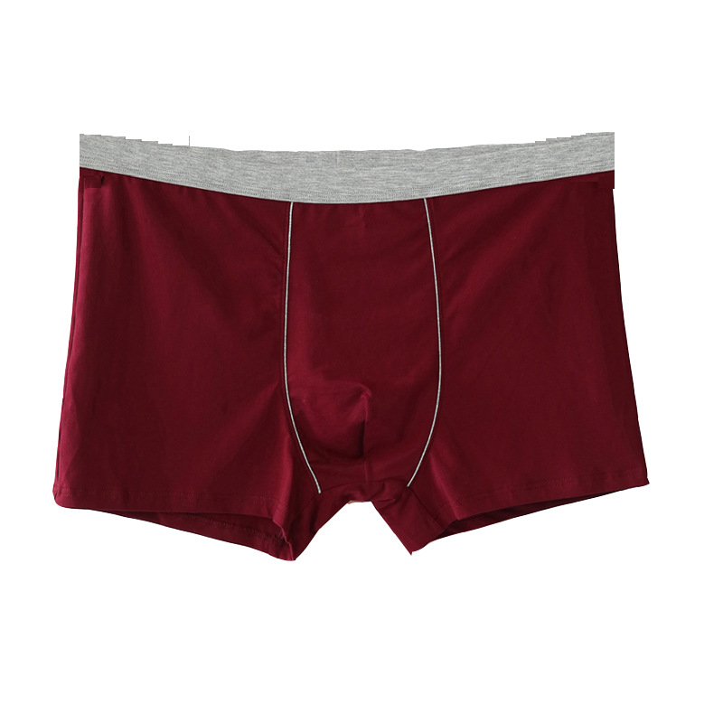 Men's Underwear Men's Boxers Pure Cotton Plus-sized-Youth-Boxers Underwear Plus-sized Cotton Plus-sized Large Loose Boxer Medium