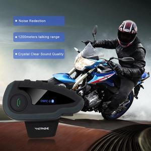 Image 5 - Bluetooth ヘッドセットリモートコントロールハンドル NFC マッチ携帯電話オートバイ BT ワイヤレスインターホン FM V8 5 ライダーヘルメット