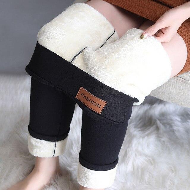 Winter Leggings Women Warm Thick Plus Velvet High Waist Women Leggings Compression Super Stretch Pencil Pant 1