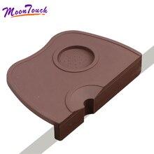 Small Non-slip Thick Silicone Coffee Powder Espresso Tamping Corner Mat Tamper Pad Maker Barista Accessories
