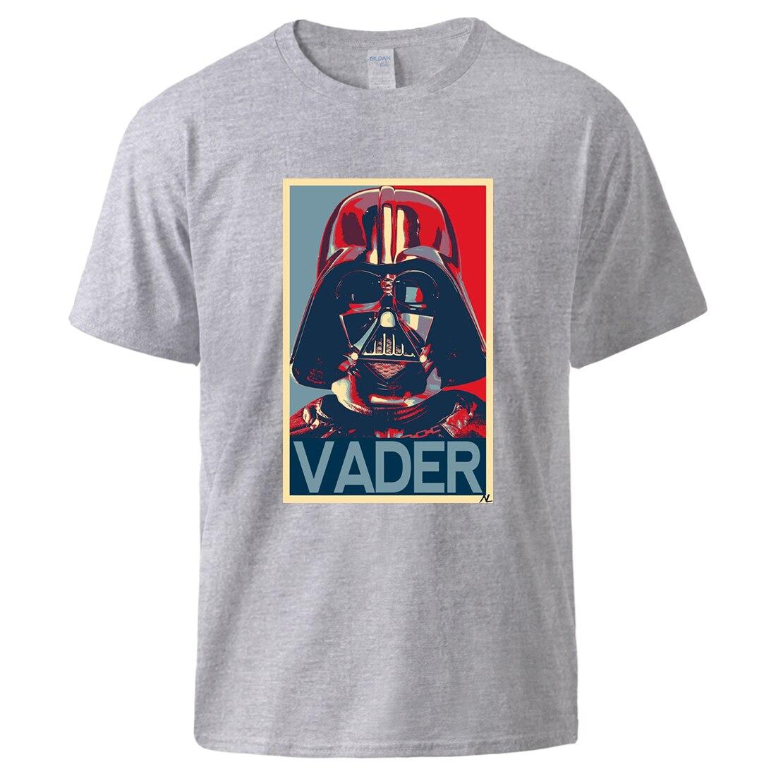 Starwars Darth Vader Tshirts Summer Short Sleeve Cotton Sportswear Star Wars Fashion Tshirt Tee 2020 Male Loose Workout Top Plus