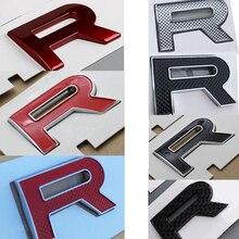 Chrome borda letras emblema para range rover evoque velar sv autobiografia estilo do carro capa e tronco logotipo emblema adesivo preto vermelho