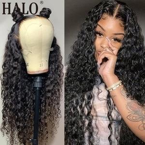 28 30 дюймов бразильские Джерри вьющиеся 13x4 Синтетические волосы на кружеве парики из натуральных волос на кружевной предщипанный бесклеево...