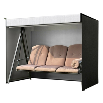 Garden Swing Cover 3-Seater Swing Hammock Cover Outdoor Garden Patio Protector Sun Shade Waterproof Chair Cover