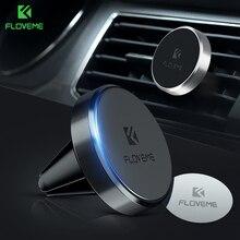 Deportivo FLOVEME Universal hasta soporte magnético de teléfono de coche para el teléfono en el coche imán de ventilación de aire montura para teléfono móvil soporte base agarradera para xiaomi