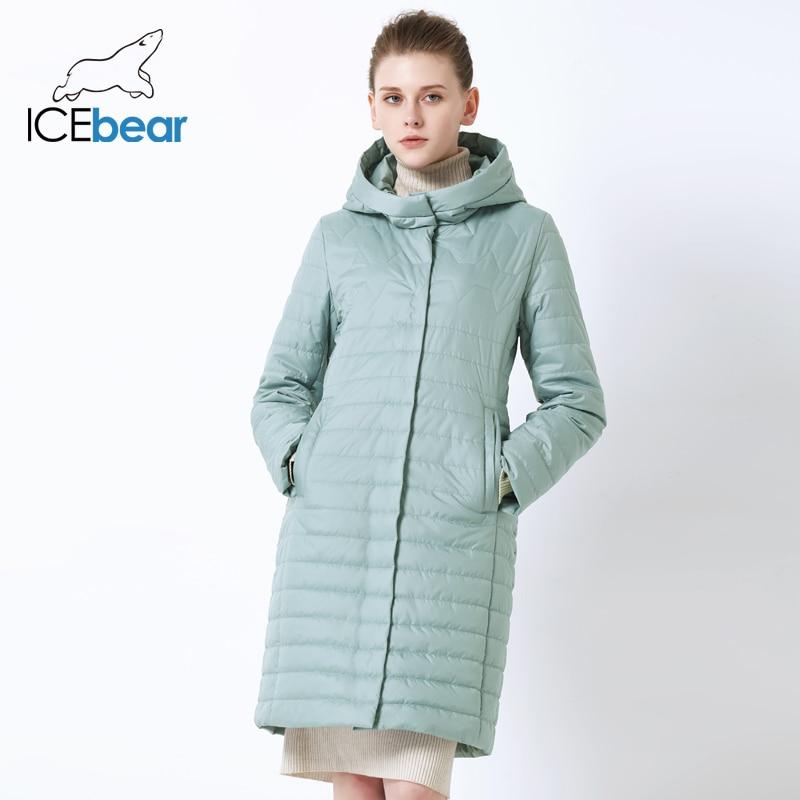 ICEbear 2019 nouvelle veste femme de haute qualité à capuche automne femmes manteau coton vêtements simple boutonnage mi-long GWC19067I