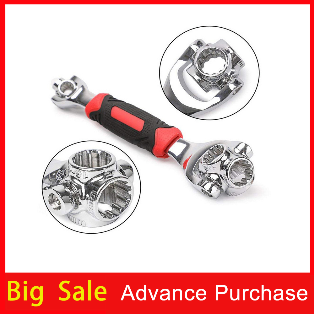 Double Head Wrench Set 52 In 1 Multitool 360 Rotation To Dog Bone Wrench For Car Repair Tools Universal Wrench Card Packaging