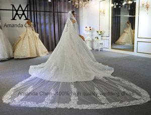 Image 5 - Abendkleid Off Shoulder koronkowa suknia ślubna z długim rękawem 2020