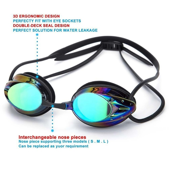Swimming Adjustable Professional Glasses Arena Racing Game Swimming Anti-fog Glasses Swimming Glasses Colorful