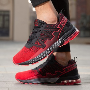 Couple fashion lace-up casual shoes outdoor non-slip air cushion sports shoes lightweight shock absorption running shoes Zapatos