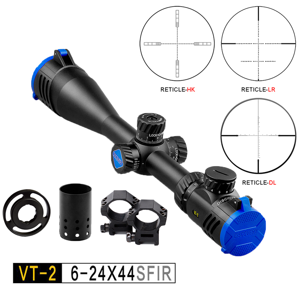 Weapons PCP Shot Air Gun Accessory Optics Tactical Hunting Riflescope For Army Discovery VT-2 6-24x44 SF Illuminated