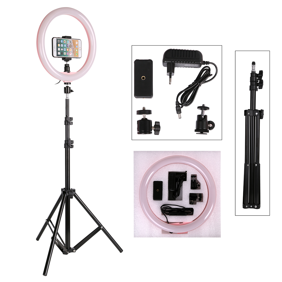 Photography LED Selfie Ring Light Camera Phone With 160CM Stand Tripod For Makeup Video