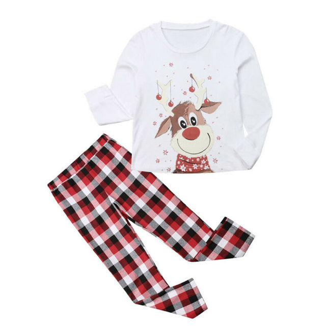 Family Christmas Pajamas XMAS Deer Print Family Set
