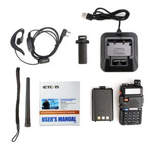 Image 5 - Retevis RT5R Walkie Talkie 2pcs 5W 128CH USB VHF UHF Ham Radio Two way Radio Comunicador For Hunting/Airsoft Baofeng UV 5R UV5R
