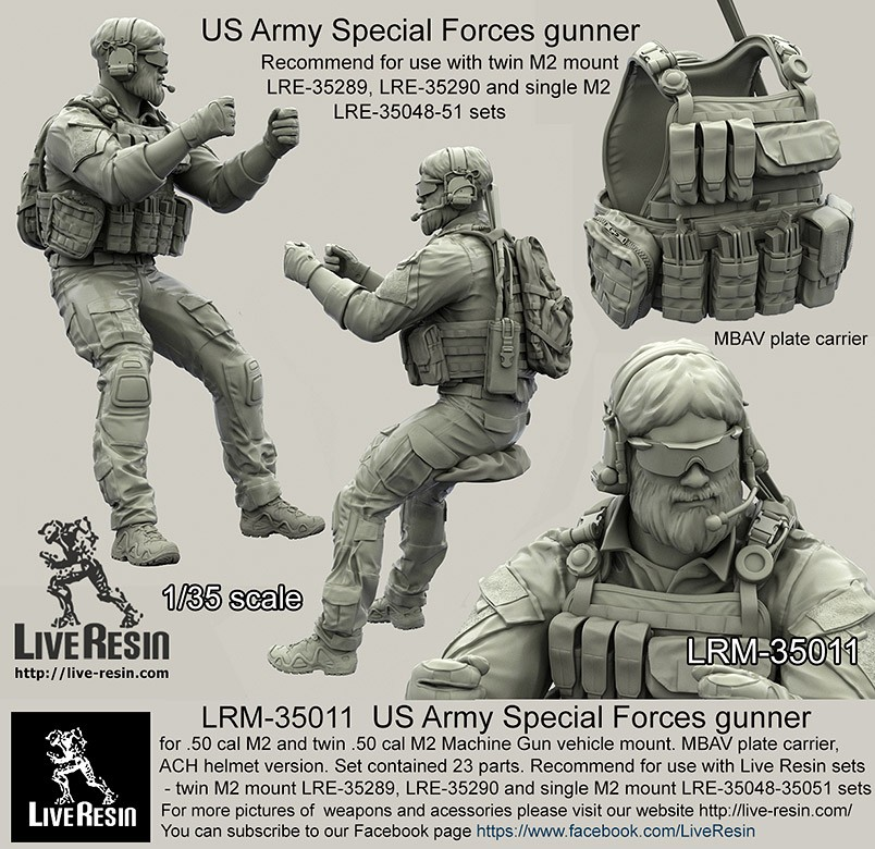 1/35 Resin Kit Model Figures US Special Forces Soldiers Unpainted Kit