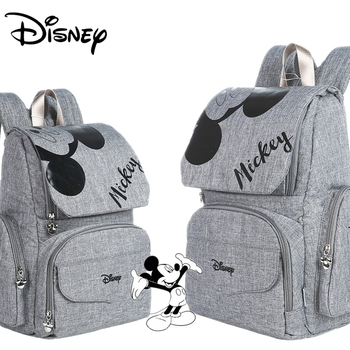 Disney Mummy Diaper Bag Maternity Nappy Nursing Bag for Baby Care Travel Backpack Designer Mickey Bags Handbag Gray and Black Bags Kids