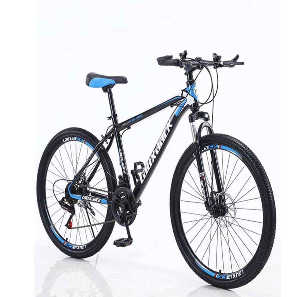 Bicicleta de montanha completa de alumínio, homens e mulheres profissional 21 engrenagens de velocidade 26in, turno da torção, preto