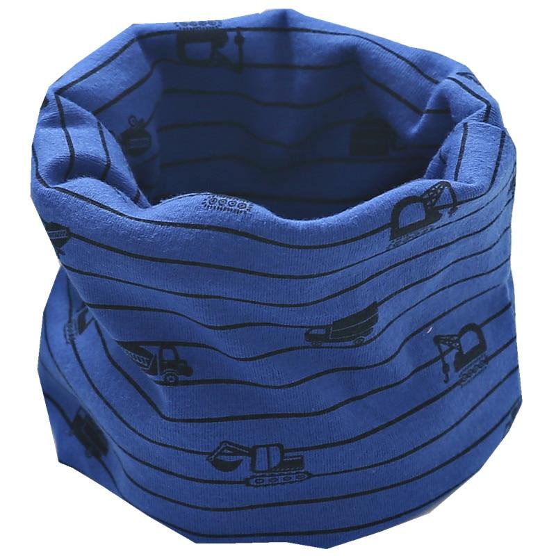Новинка; сезон осень-зима; шарф из хлопка для девочек; Детский шарф; нагрудный шарф для мальчиков и девочек с круглым кольцом; милый детский шарф с воротником; Bufandas - Цвет: dark blue truck